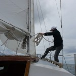 Dave Coils Halyard after Reefing Main Sail